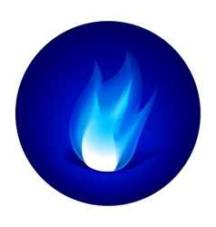 Gas fire icon vector