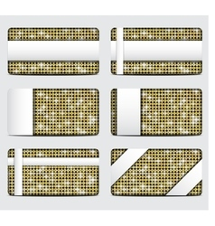 Gift cards with gold sequins background vector