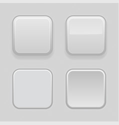 Gray plastic buttons 3d square signs - normal vector