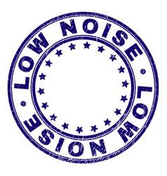 Grunge textured low noise round stamp seal vector