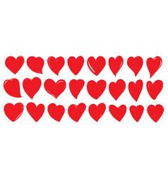 heart love romantic valentine day red icon vector image