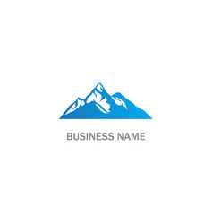 high mountain landscape logo vector image