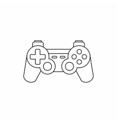 Joystick for gaming console icon outline style vector