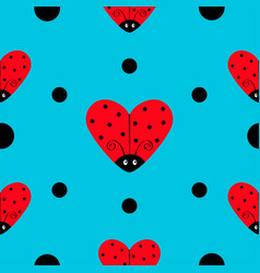 ladybug ladybird icon set heart shape baby vector image