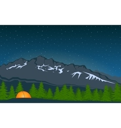 Landscape With Mountain Peak 4 vector
