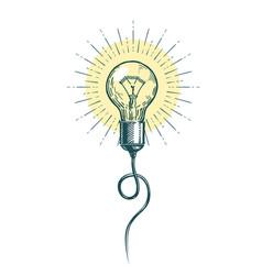 Light bulb idea innovation brainstorm concept vector