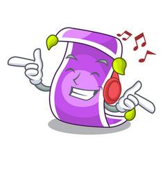 Listening music cartoon fairytale story and magic vector