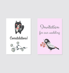 new born conratulation card design vector image