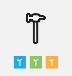 Of tools symbol on hammer vector