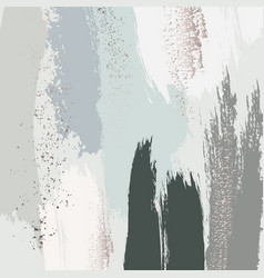 pastel green grey glitter pattern brush stroke vector image