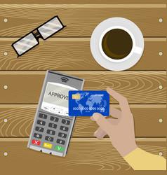 Payment nfc contactless cashless transaction vector