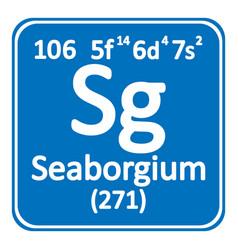 periodic table element seaborgium icon vector image