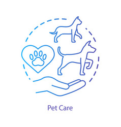 Pet shelter concept icon domestic animals clinic vector