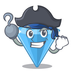 Pirate sapphire gems isolated in character vector