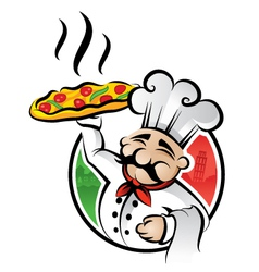 Pizza chef vector