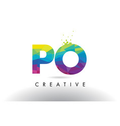 Po p o colorful letter origami triangles design vector