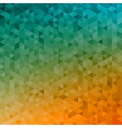 Polygonal abstract Background - yellow orange vector image