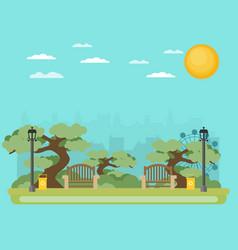 Public park in city vector