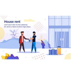 rental residential real estate flat banner vector image