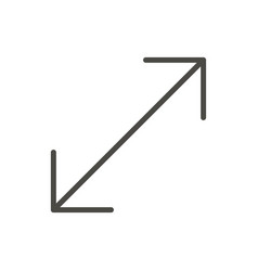 resize icon line stretch symbol vector image