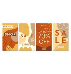 sale fashion stories templates set vector image
