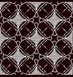 seamless pattern of lace cloth white ornament on vector image