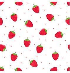 seamless pattern strawberries vector image