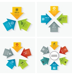 Set of infographic templates flat design vector