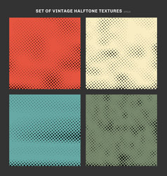 set vintage halftone texture effect created vector image