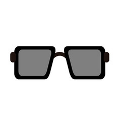 square sunglasses icon image vector image