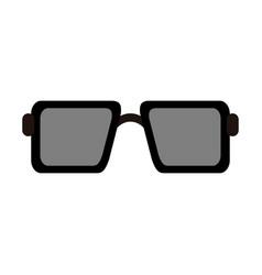 square sunglasses icon image vector image