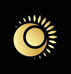 Sun and Moon Logo vector