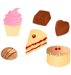 sweet food set vector image