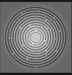 Tech maze vector
