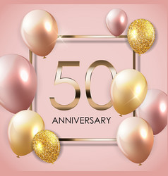 Template 50 years anniversary background with vector