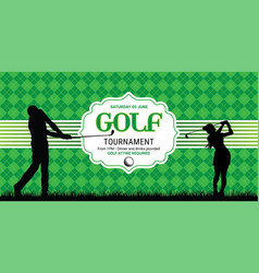 template for your golf invitation with sample text vector image