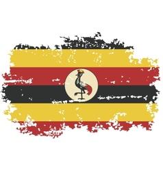 Uganda grunge flag vector