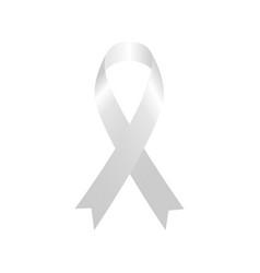 white blank ribbon vector image