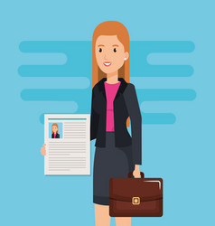 Woman curriculum vitae character vector