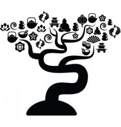 Zen icons tree vector