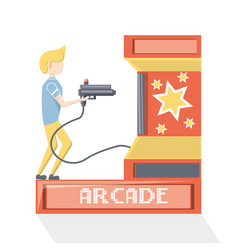 arcade video game design vector image