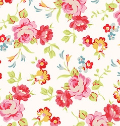 Beautiful floral seamless pattern with red roses vector image