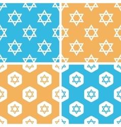 David star pattern set colored vector