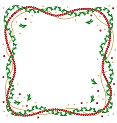fir branch frame vector image vector image