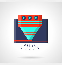 Industrial laser equipment flat color icon vector