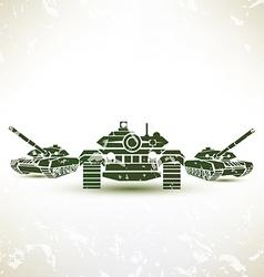Military tank symbol vector