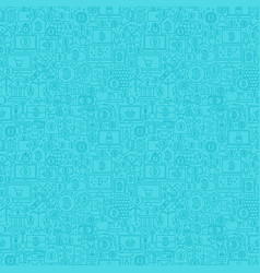 blue line bitcoin seamless pattern vector image