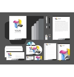Corporate identity template color company style vector image