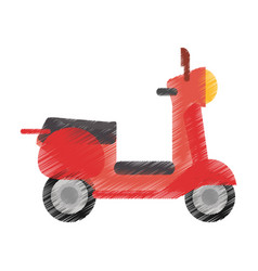 drawing scooter transport vehicle image vector image