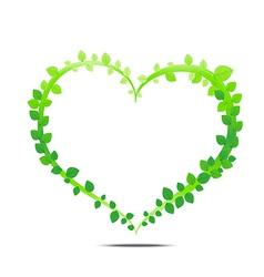 Leaf of heart vector image vector image